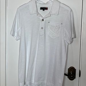 Guess white short sleeved shirt size Sm.